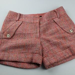 The Limited Shorts Womens 6 Drew Fit Pink Tweed